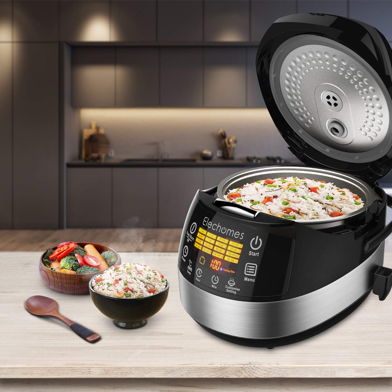 Elechomes Led Touch Control Rice Cooker Cr502